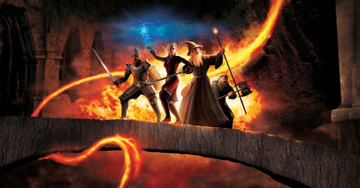 Extrait de la couverture du jeux-vidéo Le Seigneur des Anneaux : Le Tiers Âge